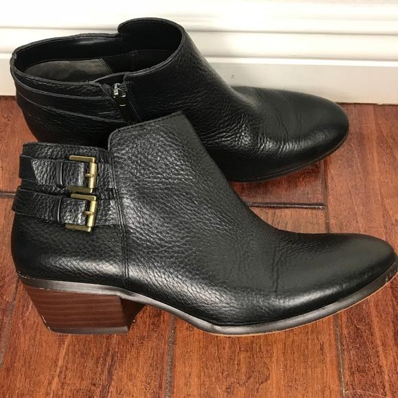 8d41bdfed Sam Edelman Petal Pebbled Leather Black Ankle Boot.  M 5b7dc89904e33d6fe1e5d2bf
